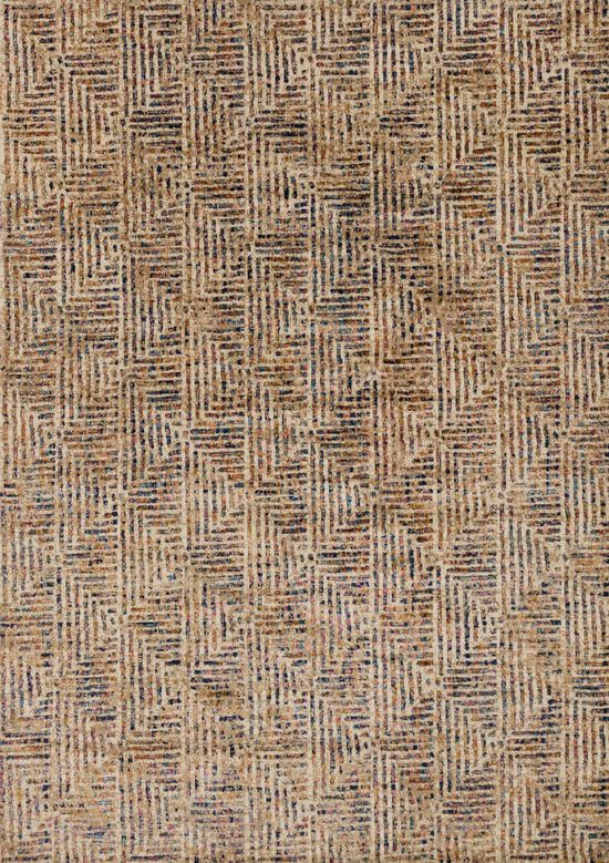 """Contemporary 5'-0""""x7'-6"""" Rug in Ivory/Multi"""