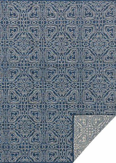 "Transitional 5'-0""x7'-6"" Rug in Navy/Cream"