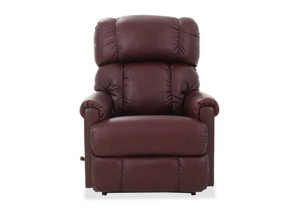 "33"" Leather Rocker Recliner in Red"