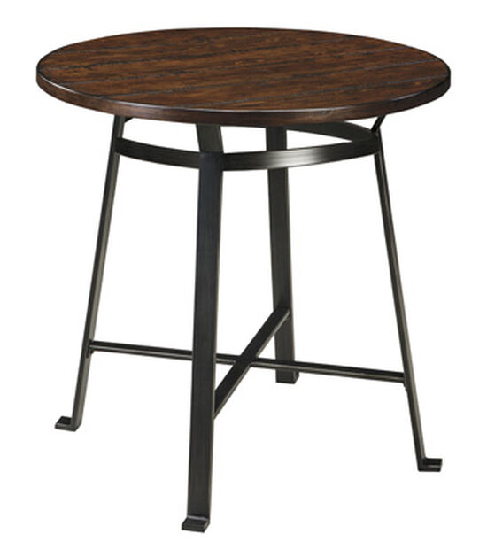 """42"""" Round Bar Table in Rustic Brown"""
