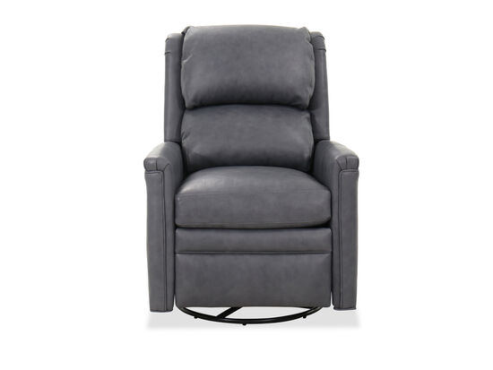 "Transitional 31"" Swivel Glider Recliner in Gray"