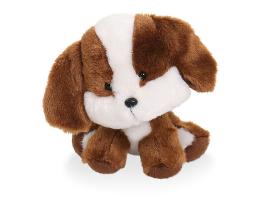 "6.5"" Wobbly Bobblee Plush Puppy Toy in Brown"