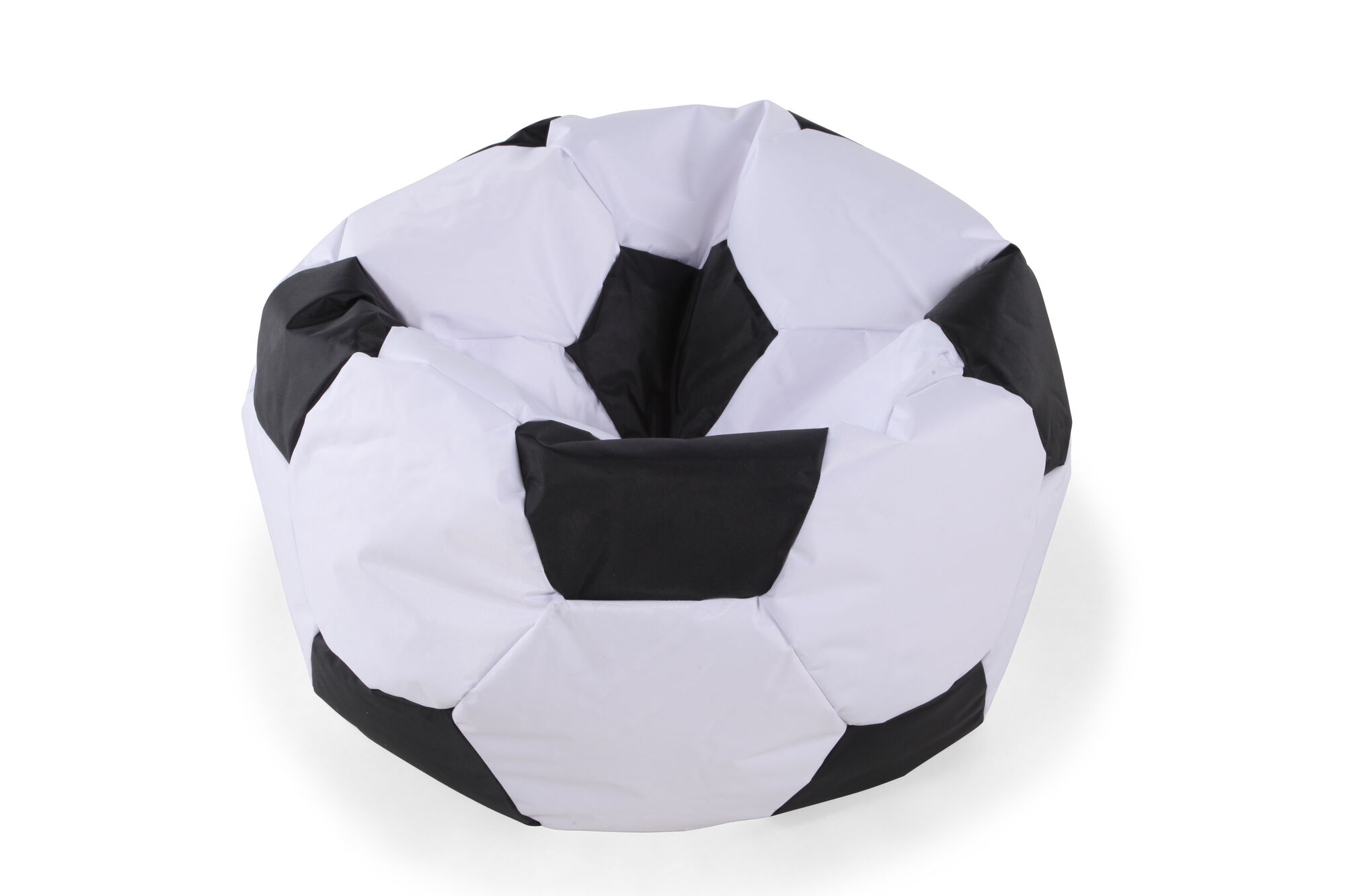Casual Soccer Ball Youth Bean Bag Chair In White