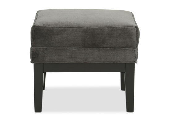 """Contemporary 20"""" Footstool in Gray"""