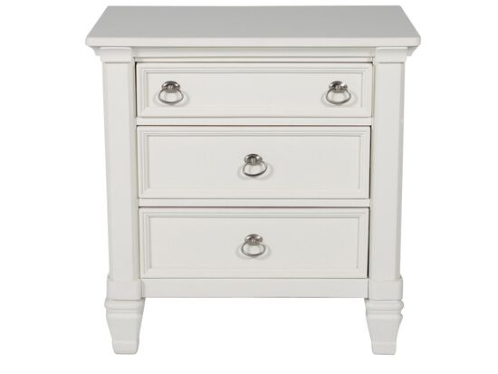 "29.5"" Contemporary Nightstand in White"