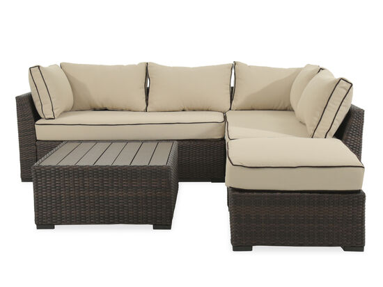 Four-Piece Aluminum Sectional in Beige