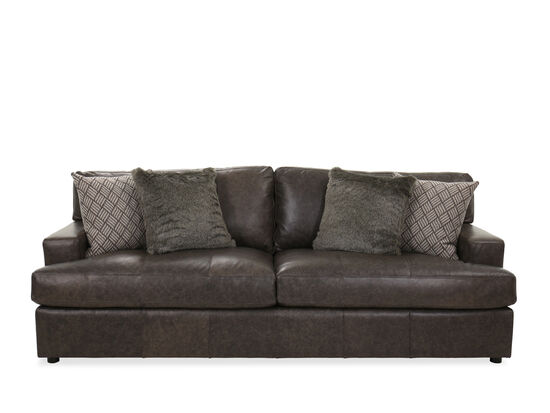Casual Leather 92.5'' Sofa in Brown