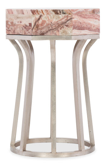 Melange Mary End Table in Silver