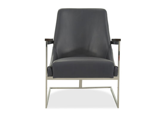 """Casual Leather 30"""" Chair in Gray"""