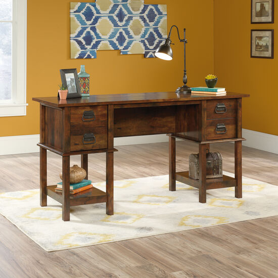 "59"" Contemporary Two-Drawer Desk in Curado Cherry"