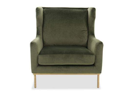 """Contemporary 32"""" Chair in Green"""