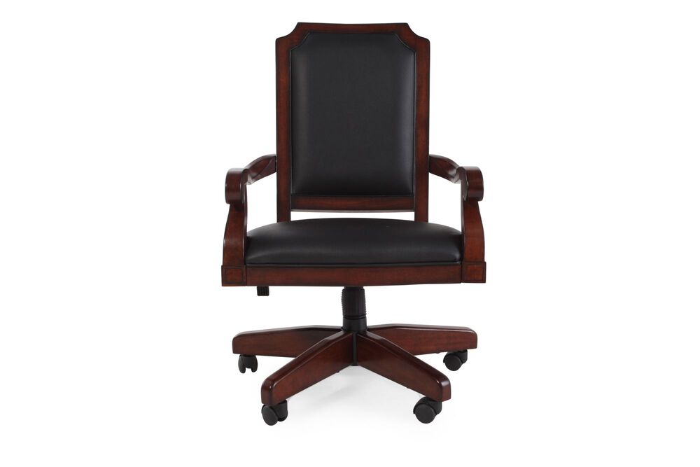 Casters Swivel Office Chair in Dark Cherry
