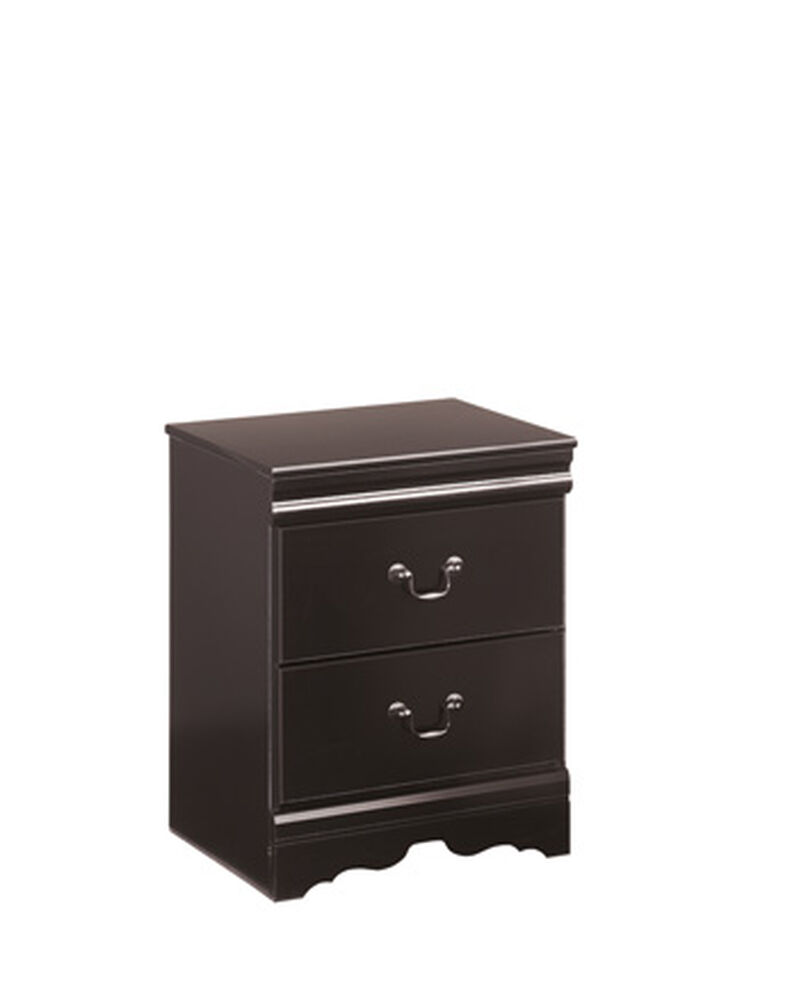 "25"" Casual Two-Drawer Nightstand in Black"