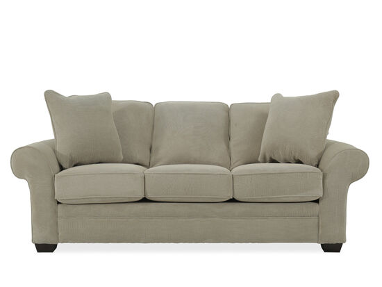"""Casual 89"""" Rolled Arm Sofa in Beige"""