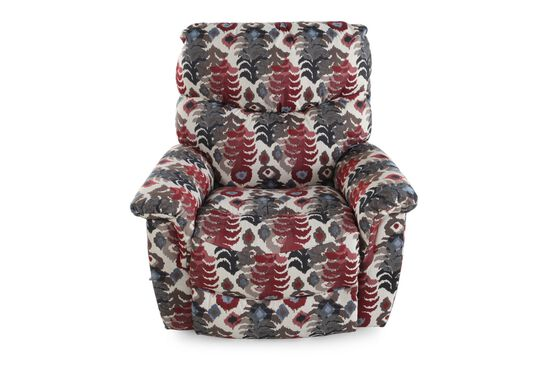 Contemporary Abstract-Patterned Rocker Recliner