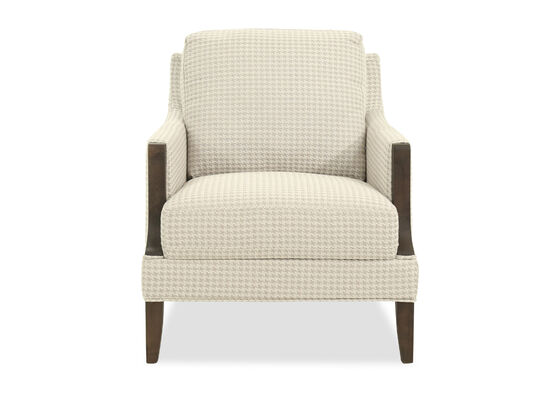 "Houndstooth Casual 30"" Arm Chair in Beige"
