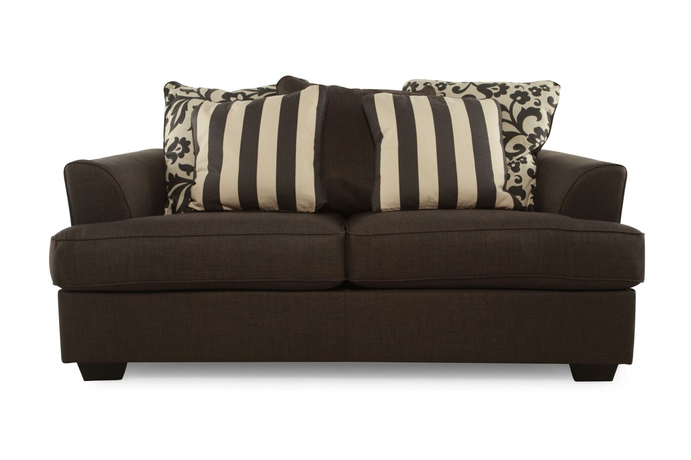 Contemporary 69 Loveseat In Charcoal Mathis Brothers Furniture