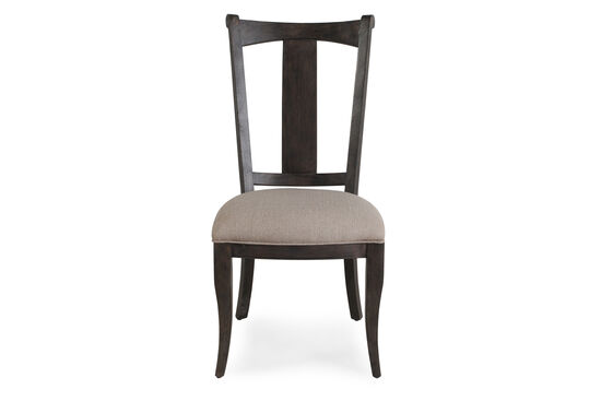 Queen Anne Foreleg 43'' Side Chair in Dark Brown