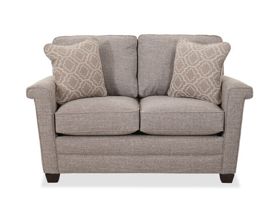 """Casual 59.5"""" Flared Arm Loveseat in Silt"""