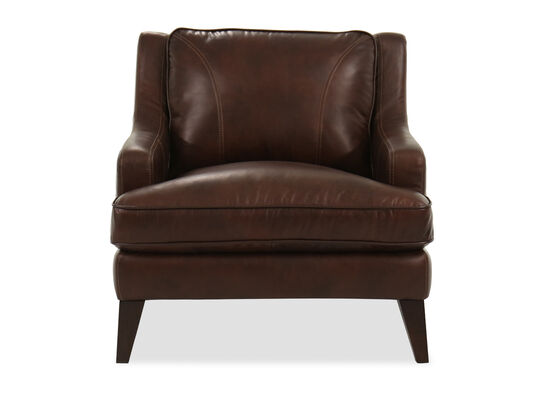 Casual Leather Chair in Brown