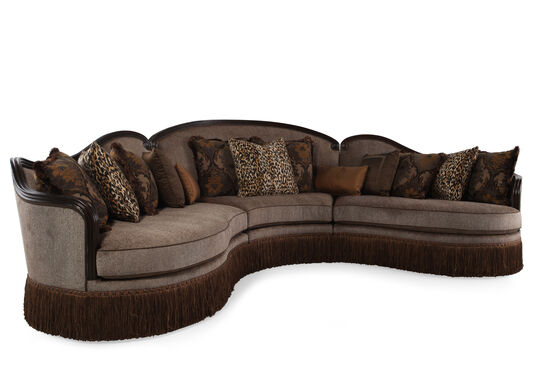 """Three-Piece Traditional 155"""" Sectional in Sable"""