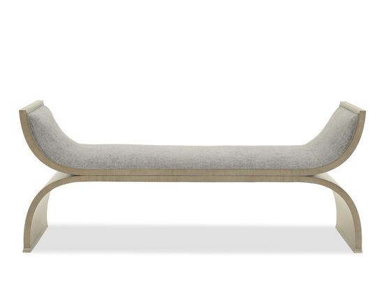 """Casual 64"""" X-Bench in Gray"""