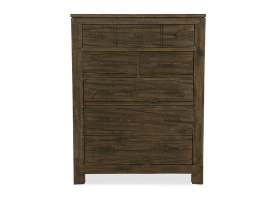 Six-Drawer Transitional Chest in Brown