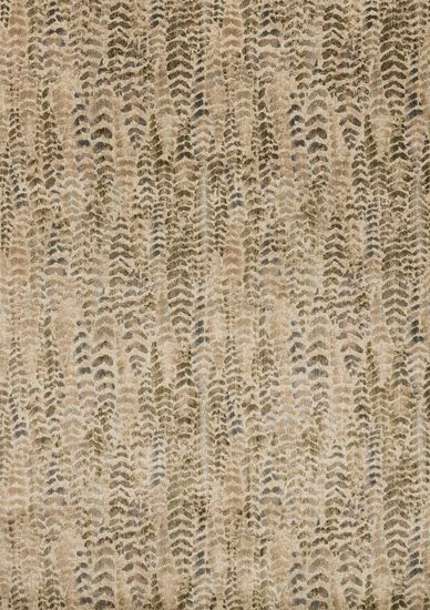 "Contemporary 2'-3""x8'-0"" Rug in Sage/Beige"