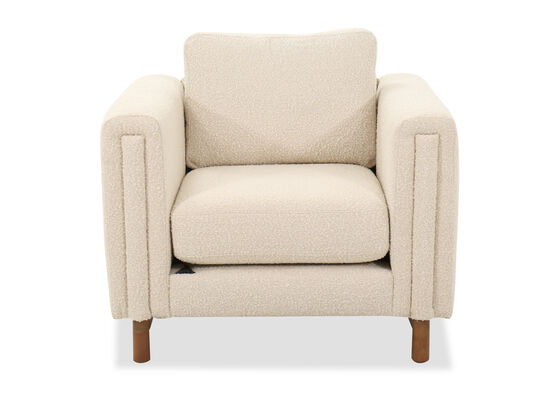 """40"""" Mid-Century Modern Chair in Ivory"""