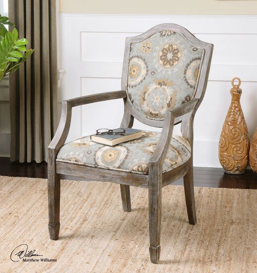 "Solid Birch Weathered 23"" Accent Chair"