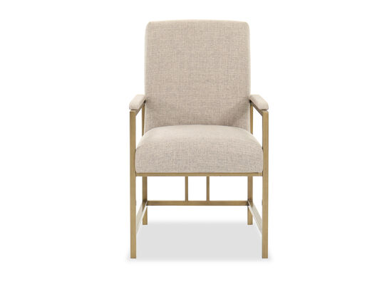 "Contemporary 38"" Side Chair in Bronze"