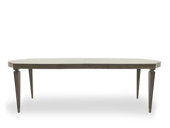 """Casual 44"""" Curved Dining Table in Dark Brown"""
