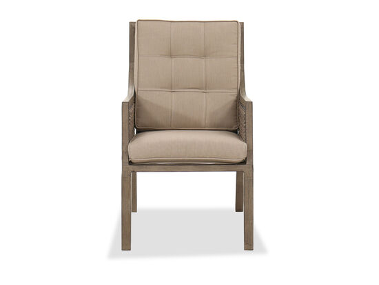 Casual Aluminum Dining Chair in Brown