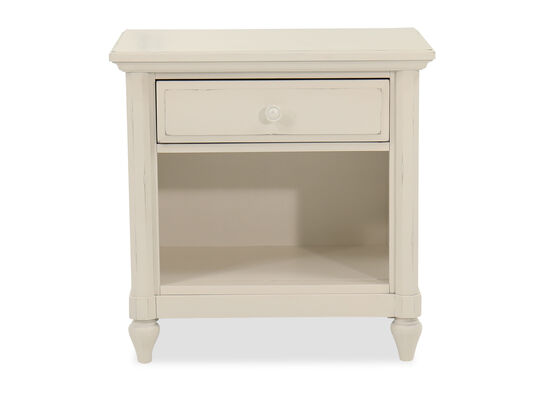 "28"" Casual One-Drawer Nightstand in Chalk"