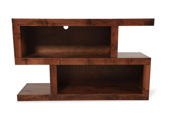 Stacked Rectangular Contemporary Console Table in Dark Fruitwood