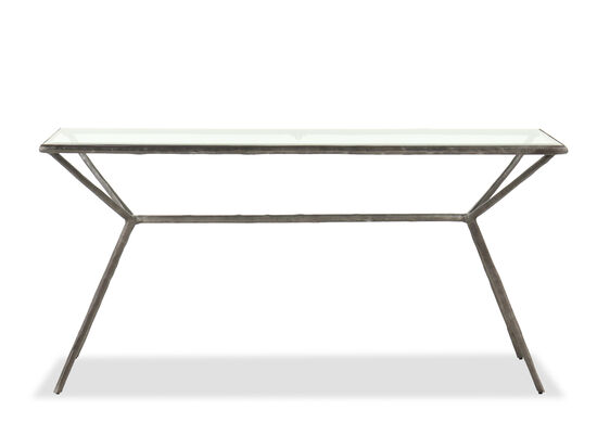 Casual Metal Console Table in Antique Iron