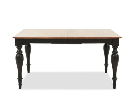 """Traditional 78"""" Rectangular Dining Table in Brown"""