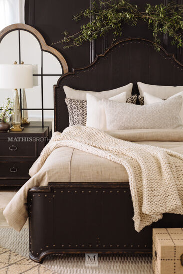 72 Quot Traditional Panel Bed In Kettle Black Mathis