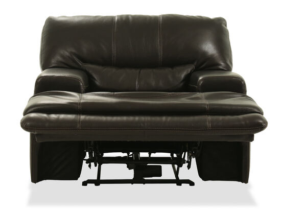 """Traditional 39"""" Leather Recliner in Black"""