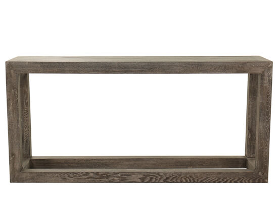 Rectangular Console Table in Brown