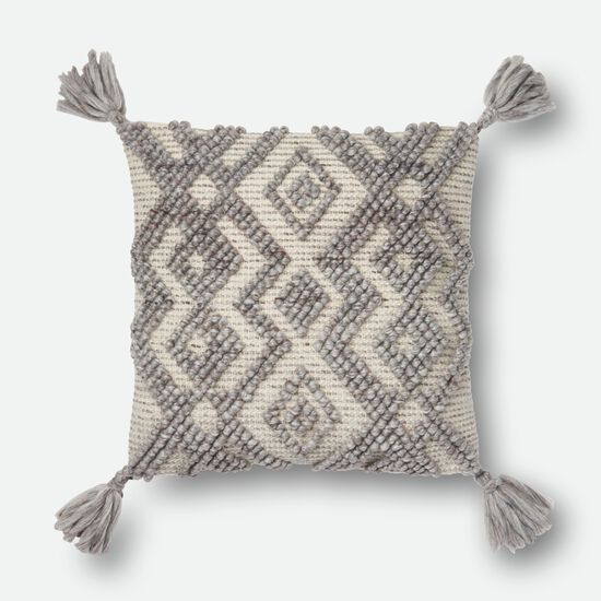 """18""""x18"""" Cover w/Down Pillow in Grey"""