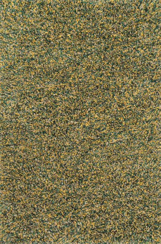 """Shags 7'-6""""x9'-6"""" Rug in Teal/Gold"""