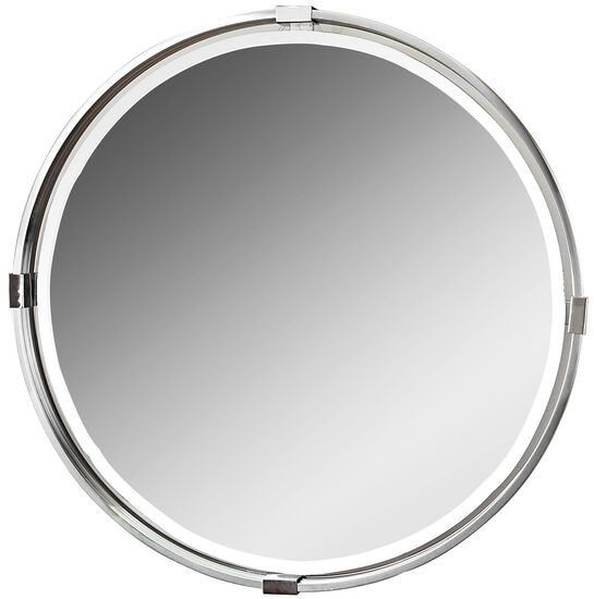 29.5'' Floating Accent Mirror in Brushed Nickel