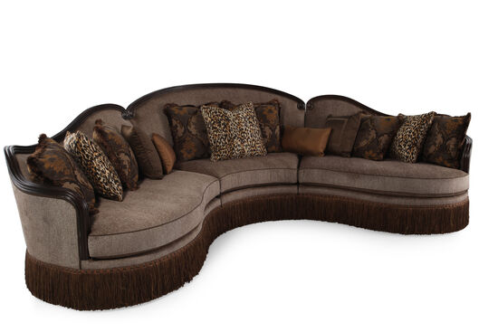 "Three-Piece Traditional 155"" Sectional in Sable"