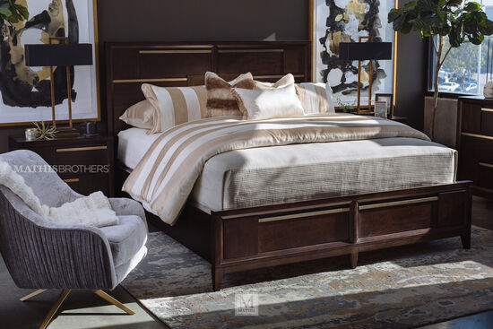 Four-Piece Contemporary Bedroom Suite in French Roast