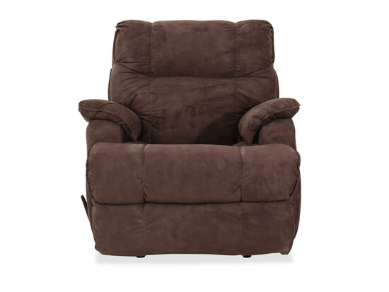 "ComfortKing Transitional 43"" Rocker Recliner in Brown"