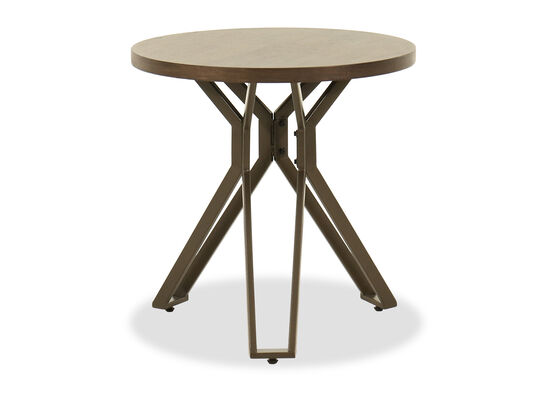Round End Table in Brown