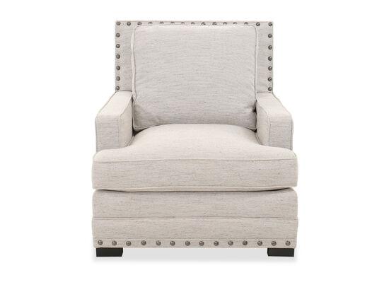 "Casual Nailhead-Accented 34.5"" Chair in Cream"