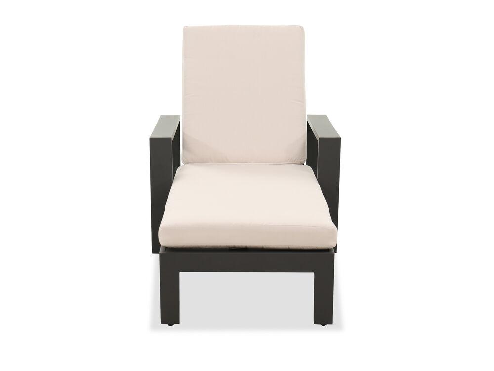 Contemporary Patio Chaise Lounge in Cream