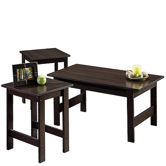 Three-Piece Casual Table Set in Cinnamon Cherry